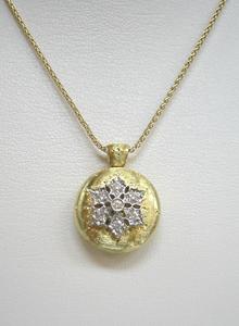 K18WG ダイヤ入 ネックレス